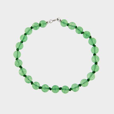 Pulseira Quartzo Verde e Prata 925