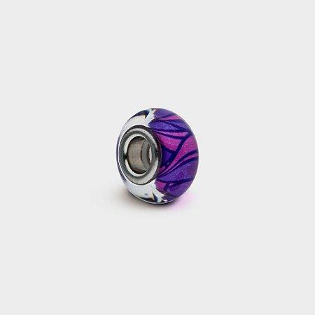 Charm Murano Violetas em Prata 925