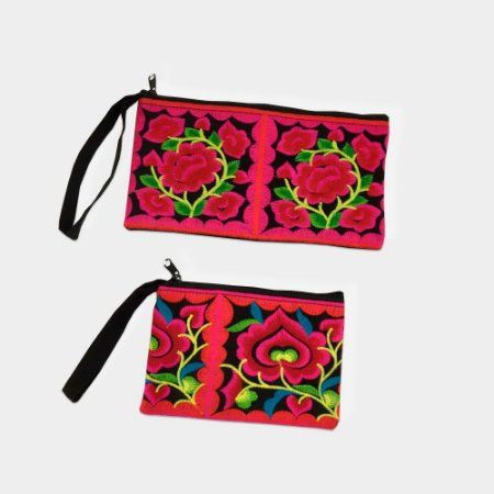 Conjunto Bags Flores Bordadas Indiana
