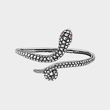 Bracelete Cobra em Prata 925 e Granada