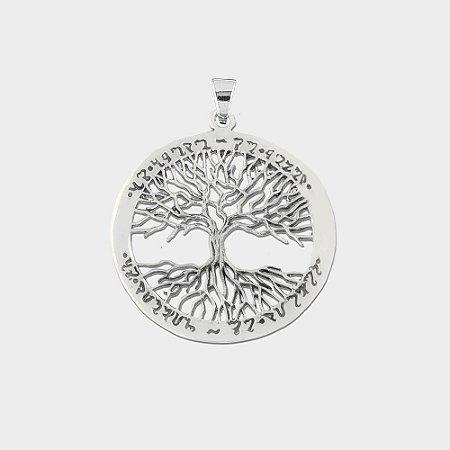 Pingente Árvore da Vida com Alfabeto Theban