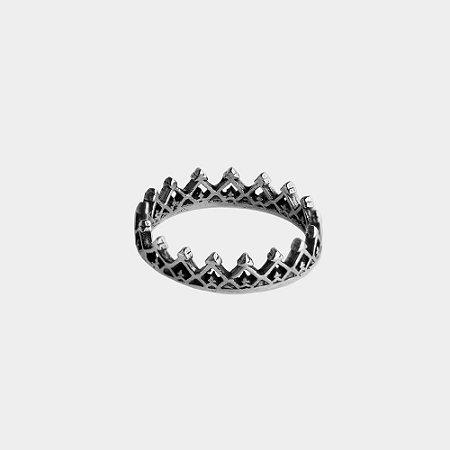Anel Coroa em Prata 925