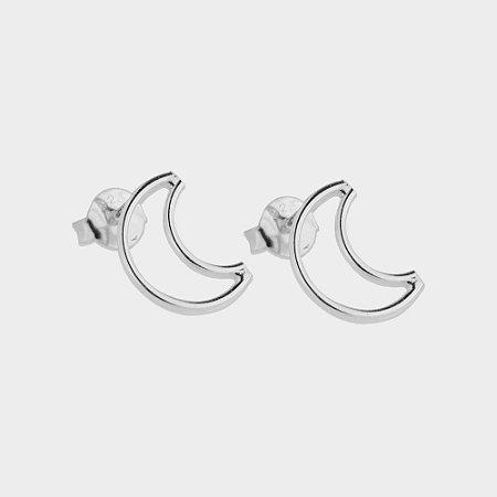 Brinco Lua em Prata 925
