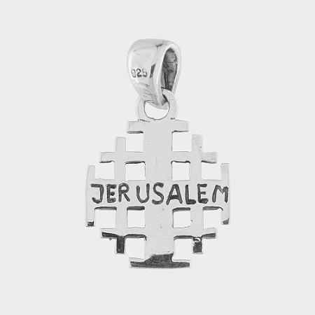 PINGENTE CRUZ DE JERUSALÉM EM PRATA 925