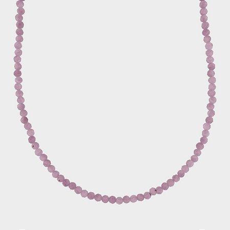 Colar Mahara em Prata 925 e Turmalina Rosa