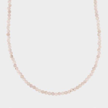 Colar Mahara em Prata 925 e Quartzo Rosa
