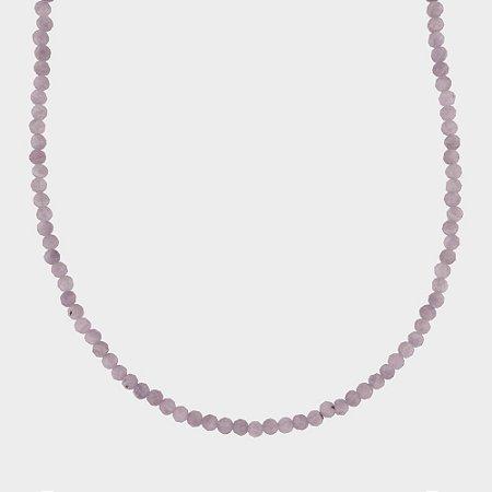 Colar Mahara em Prata 925 e Quartzo Cereja