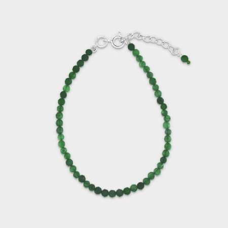 Pulseira Mahara em Prata 925 e Ônix Verde