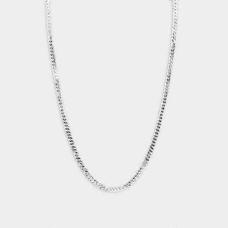 Corrente Grumet Redonda 70 cm em Prata 925