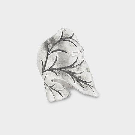 Anel Rústico Folhas em Prata 925