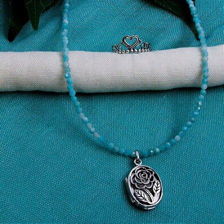 Conjunto Amazonita e Prata 925