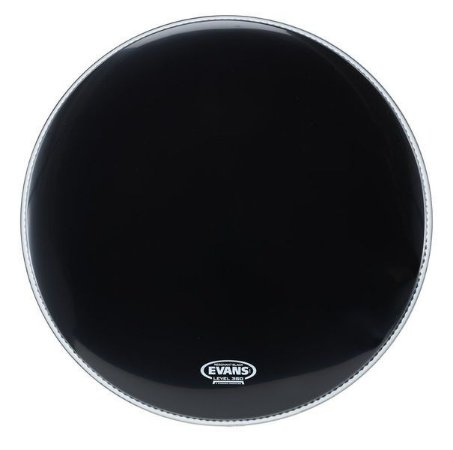 Pele de Resposta de Bumbo Evans Resonant Black 20''