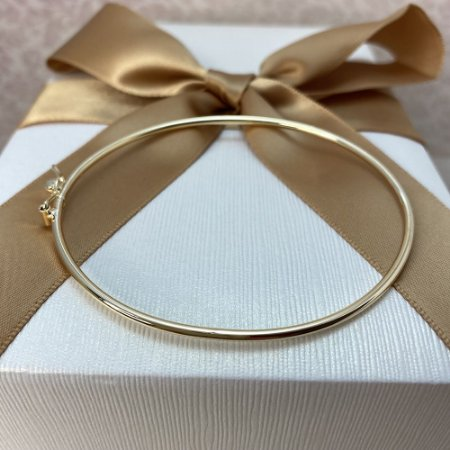 Bracelete Liso Semijoia Ouro