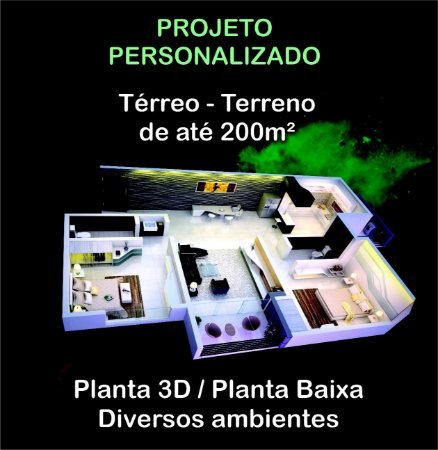 Planta Térrea - Terreno até 200m²