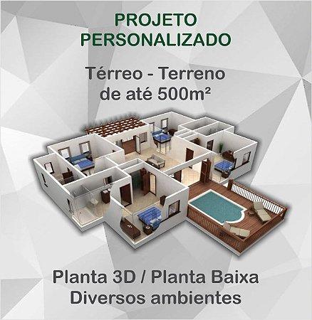Planta Térrea - Terreno até 500m²