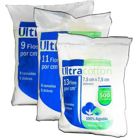 GAZE ULTRACOTTON 13 FIOS C/500