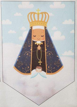 Flamula Nossa Senhora Aparecida com nuvem