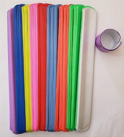 Pulseira bate enrola com 10 unidades cores variadas
