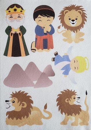 Kit Historinha Bíblica - Daniel na cova dos leões