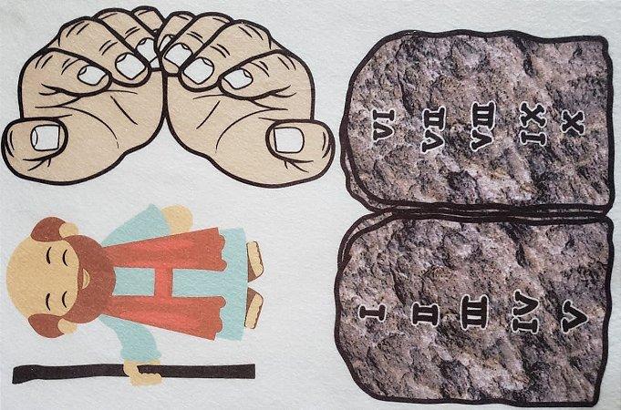 Kit Historinha Bíblica - Moises e os 10 mandamentos