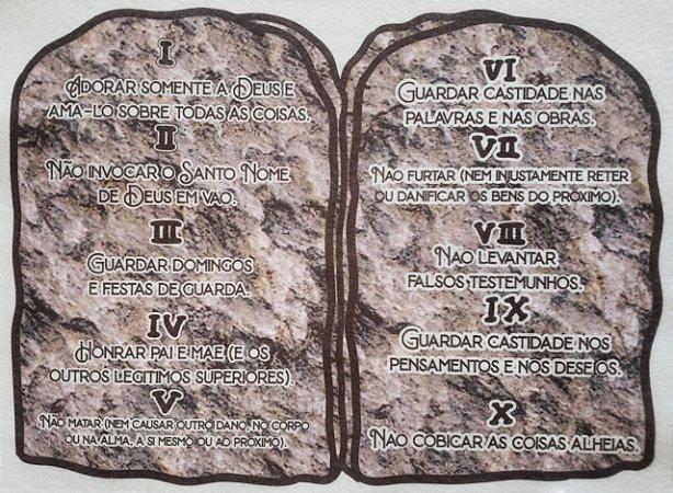 Kit Historinha Bíblica - Tabua de pedra 10 mandamentos