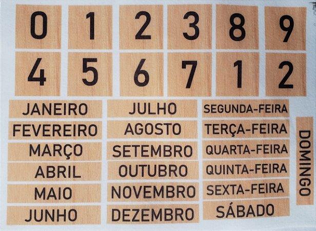 Calendário de mesa Madeira
