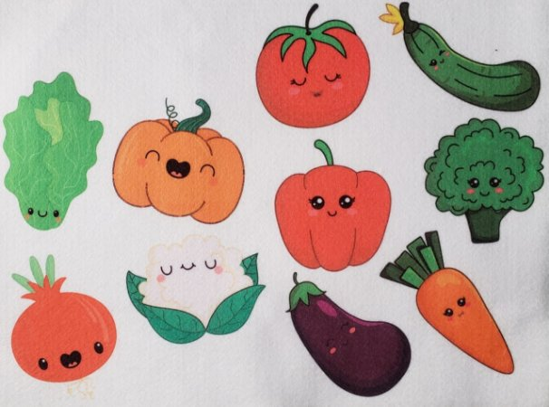 Estampa para Livro - Minha comidinha Legumes e verduras
