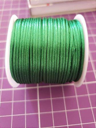 Cordão Cetim  1mm Verde Bandeira