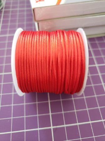 Cordão Cetim  1mm Vermelho