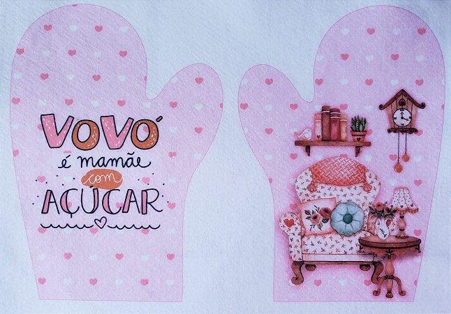 Luva para cozinha - Vovó é mamãe com açúcar
