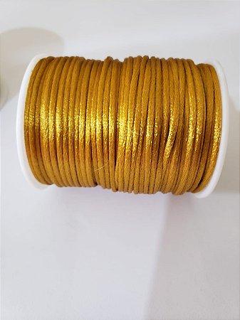 Cordão Cetim / 2mm Dourado