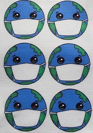 Planeta terra de máscara