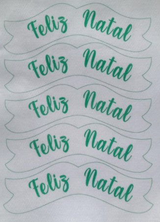 Plaquinha Feliz Natal 20x7cm Verde