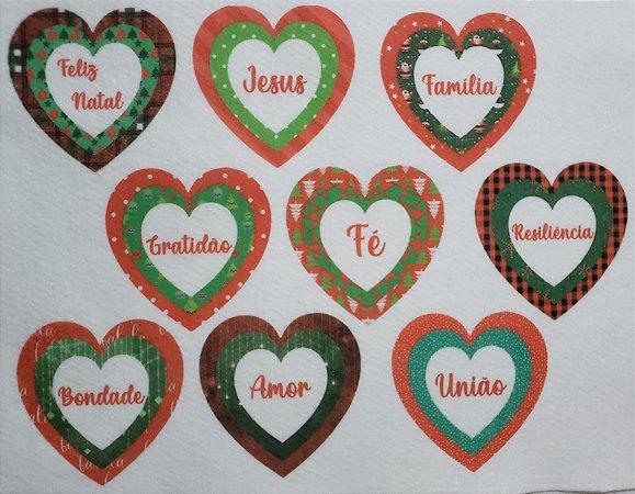 Coração Triplo de Natal 6