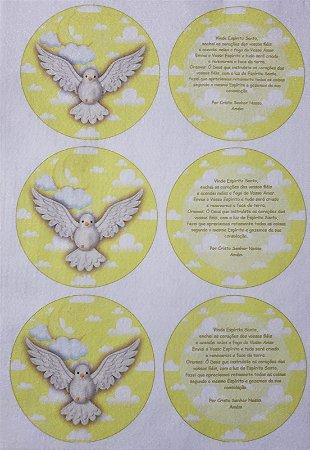 Porta Copo / Chaveiro / Porta Fone - Vinde Espírito Santo Amarelo