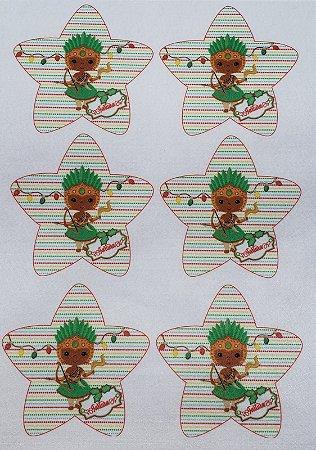 Estrelinha de Natal Orixás - Oxossi