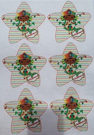 Estrelinha de Natal Orixás -Oxumare