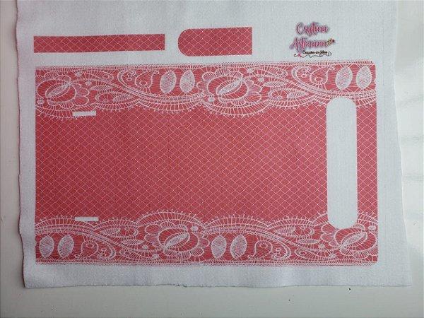 Bolsa de mão texturizada