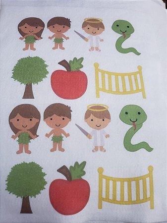 kit Histórinhas para Dedoches Adão e Eva