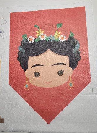 Para recortes - Flâmula Frida Vermelha