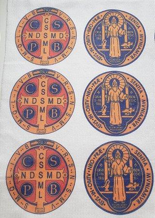 Medalha São Bento Frente e Verso