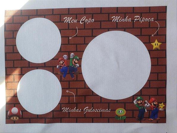 Almofada Pipoca P Mario e Luigi