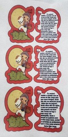 Santinho com Oração - São Jorge 9cm