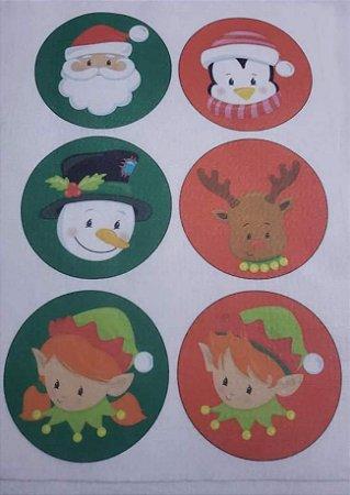Bolinhas de Natal Papai Noel e Sua Turma