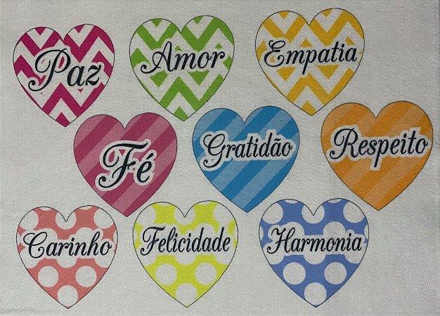 Coração colorido 12