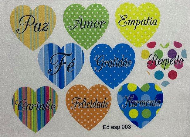 Coração colorido 18