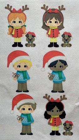 Kit Bonequinhos de Natal Iolanda Cristina