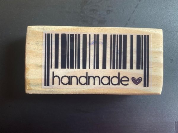 Carimbo Handmade Código de Barras 8x4