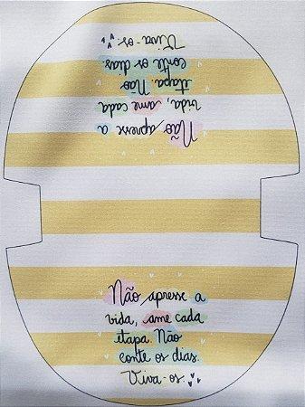 Nécessaire Oval Não apresse a vida, ame cada etapa, não conte os dias, viva-os!