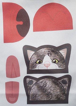 Porta moeda gatinho  Cinza escuro
